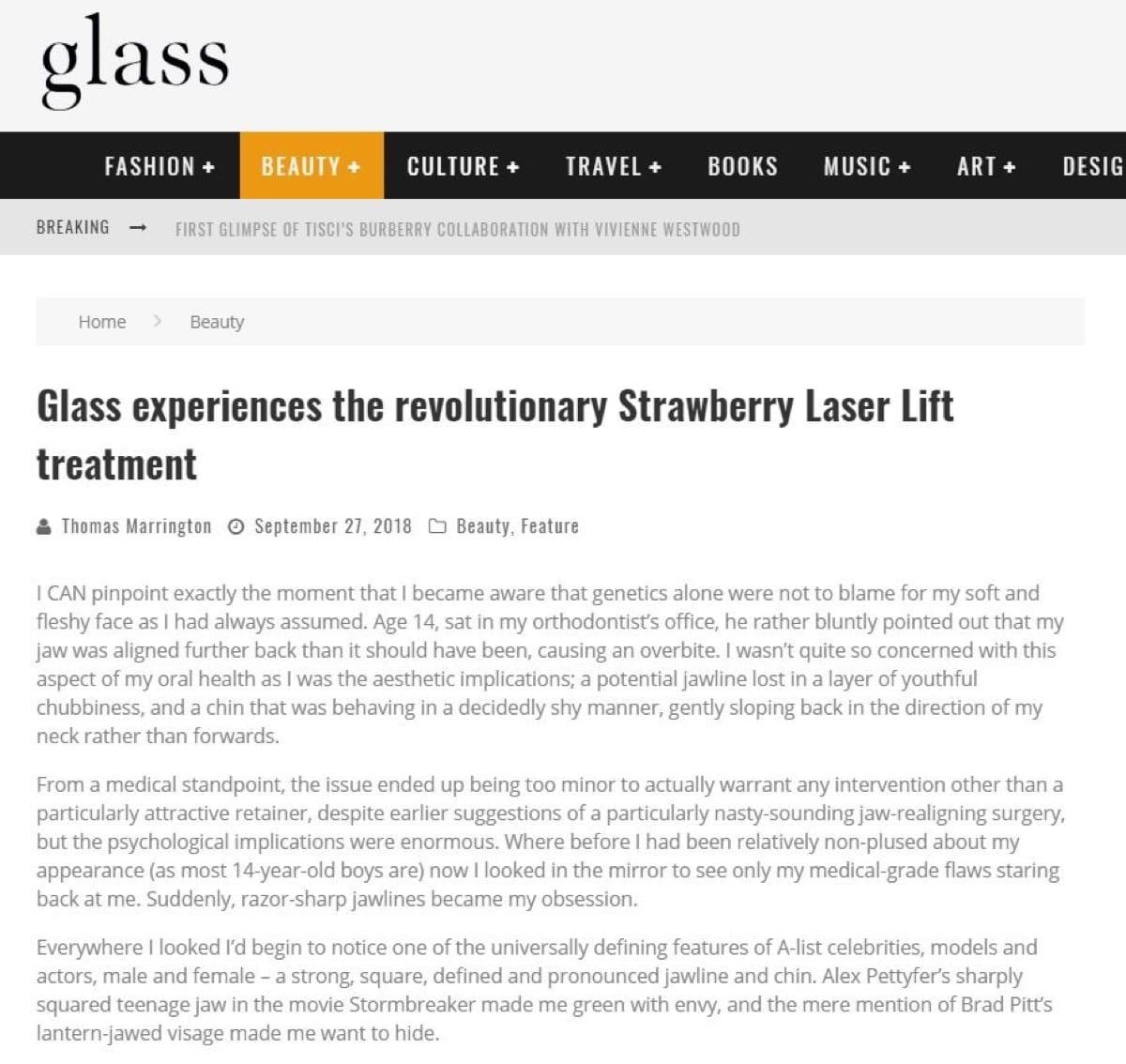Glass Magazine Online - Strawberry Review