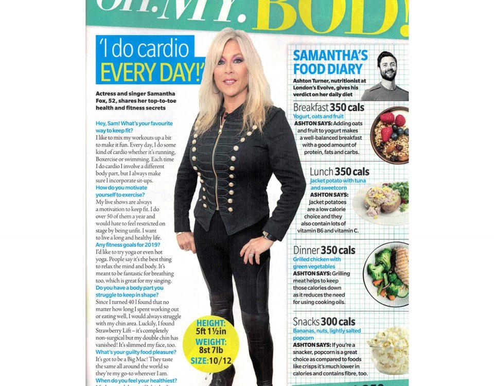 Now magazine - Samantha Fox
